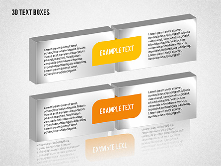 3D Text Boxes Collection Presentation Template, Master Slide