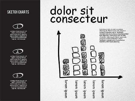 Charts in Sketch and Chalk Style Presentation Template, Master Slide