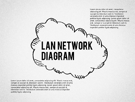 LAN Network Diagram Presentation Template, Master Slide