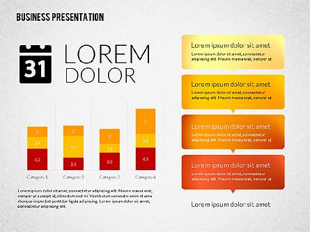 Business Presentations with Flat Shapes Presentation Template, Master Slide