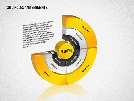 3D Circles and Segments Toolbox Presentation Template, Master Slide