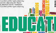 Education Word Cloud Presentation Template
