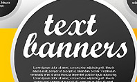 Gray Round Text Banners