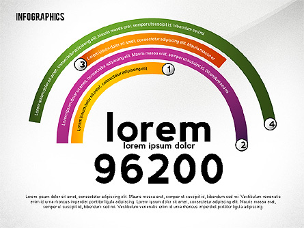 Colorful Infographic Banners Presentation Template, Master Slide