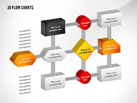 3D Flowchart Toolbox Presentation Template, Master Slide