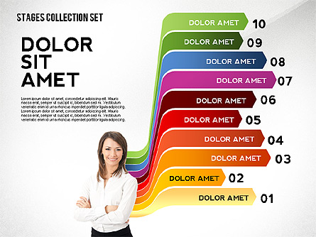 Colorful Stages Concept Toolbox Presentation Template, Master Slide