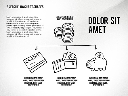 Financial and Management Flowchart Toolbox Presentation Template, Master Slide
