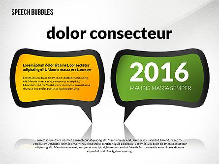 Colorful Speech Bubbles Presentation Template, Master Slide