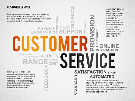 Customer Service Presentation Template Presentation Template, Master Slide