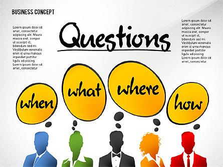 Questions Presentation Concept Presentation Template, Master Slide