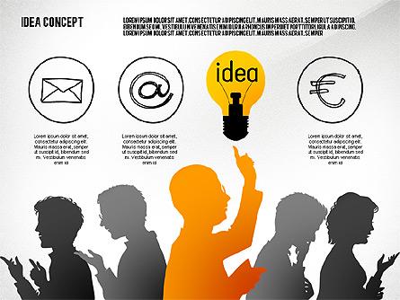 Generating Idea Presentation Concept Presentation Template, Master Slide