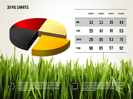 Presentation with Pie Chart and Table (data driven) Presentation Template, Master Slide
