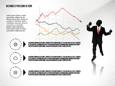 Business Presentation with Silhouettes Presentation Template, Master Slide