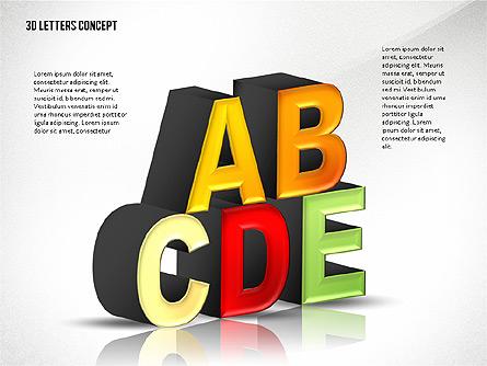 3D Letters Presentation Template, Master Slide