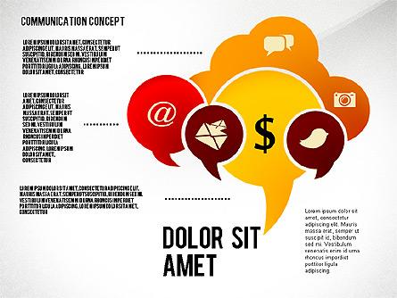 Communication Presentation Concept Presentation Template, Master Slide