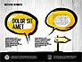 Speech Bubbles in Hand Drawn Style slide 1