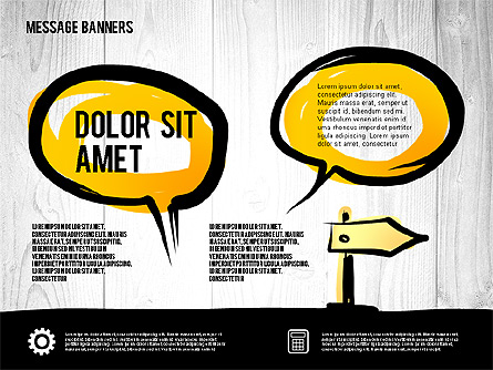 Speech Bubbles in Hand Drawn Style Presentation Template, Master Slide
