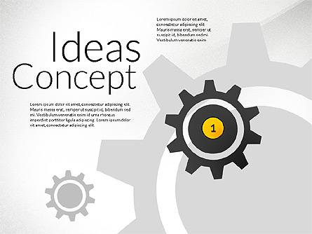 Ideas Concept Presentation Presentation Template, Master Slide