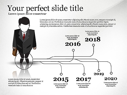 Pitch Deck Presentation with Businessman Silhouette Presentation Template, Master Slide