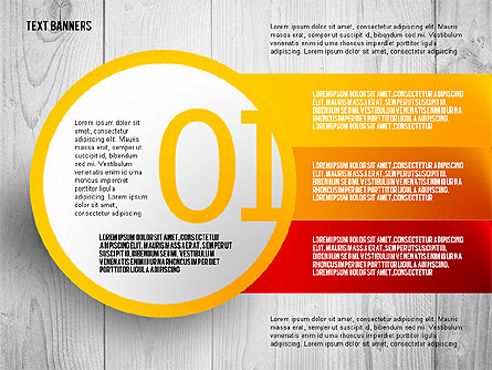Round Text Boxes with Photos Presentation Template, Master Slide