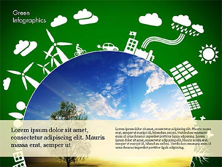 Green Infographic Presentation Template, Master Slide