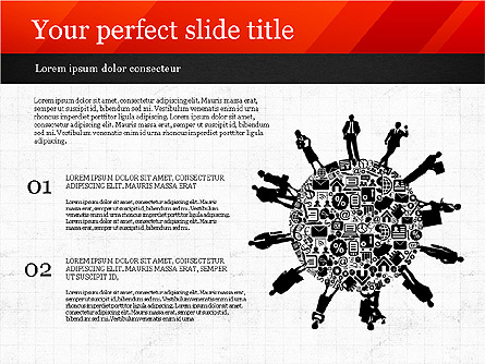 Presentation with Icons and Silhouettes Presentation Template, Master Slide