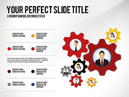 Business Team Presentation Concept Presentation Template, Master Slide