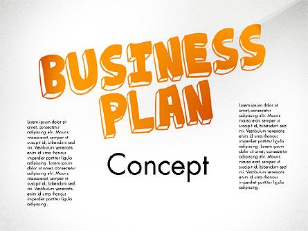 Business Plan Process Concept Presentation Template, Master Slide