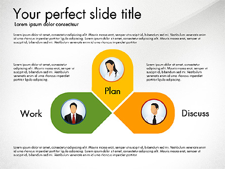 work plan discussion diagram for presentations in powerpoint and, Presentation templates