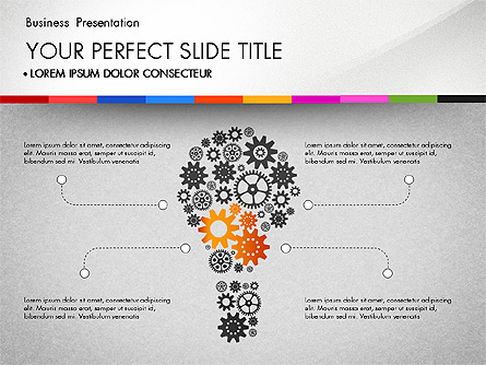 Presentation with Silhouettes Icons and Puzzles Presentation Template, Master Slide
