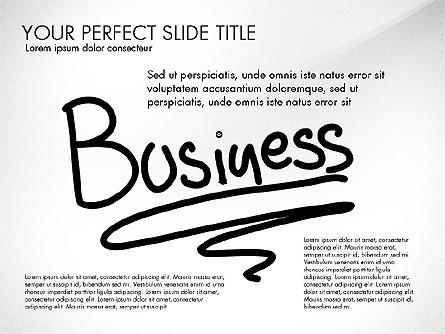 Sketch Style Business Presentation Presentation Template, Master Slide