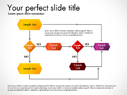 Flow Chart Toolbox Presentation Template, Master Slide