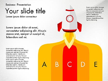 Project Launch Presentation Deck Presentation Template, Master Slide