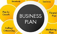 Business Plan Staged Flower Petal Diagram