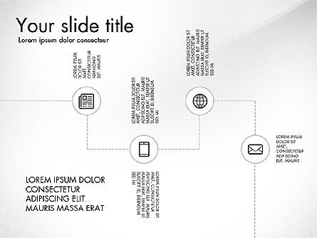 Flow Chart with Icons Concept Presentation Template, Master Slide