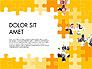 Yellow Puzzle Frame Presentation Concept slide 1