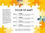 Yellow Puzzle Frame Presentation Concept slide 8