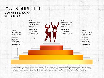 Steps Success Winner Presentation Template, Master Slide