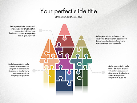 Shapes from Puzzle Pieces Presentation Template, Master Slide