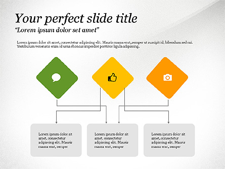 Process Flow Charts Presentation Template, Master Slide