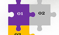 Presentation Concept with Puzzle Pieces
