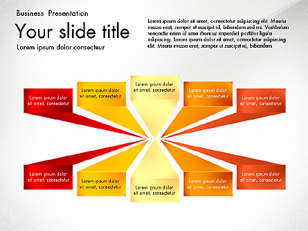 Shapes and Text Boxes Presentation Template, Master Slide