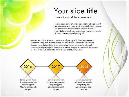 Presentation in Green Colors Presentation Template, Master Slide