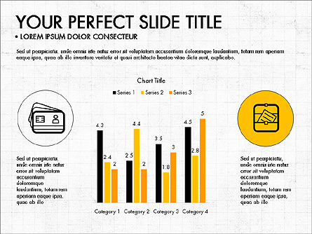 Icons and Histograms Report Presentation Template, Master Slide
