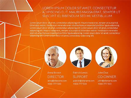 Business Report Presentation Template, Master Slide