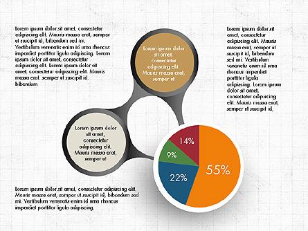 Hub and Pie Chart Presentation Template, Master Slide