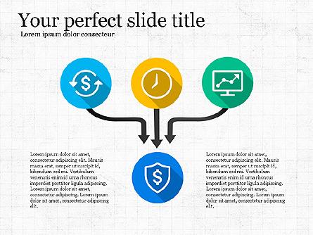 Business Process Flow Presentation Template, Master Slide