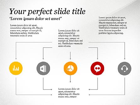 Flow Process Presentation Template, Master Slide