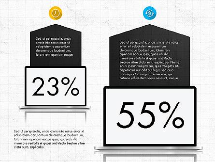 Infographics Presentation Report Presentation Template, Master Slide