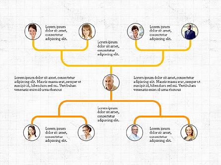 Company Organizational Chart Presentation Template, Master Slide
